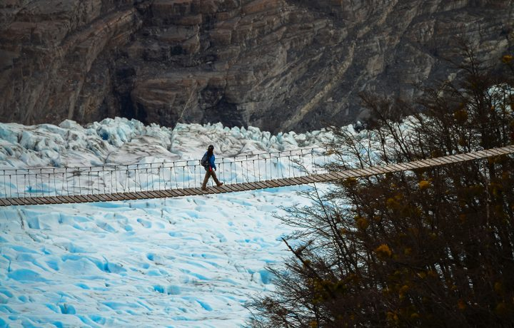 Glacier view in National Park Torres del Paine
