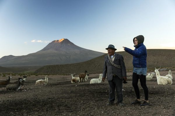 Landscape of Chilean Altiplano (Highland) region in the north