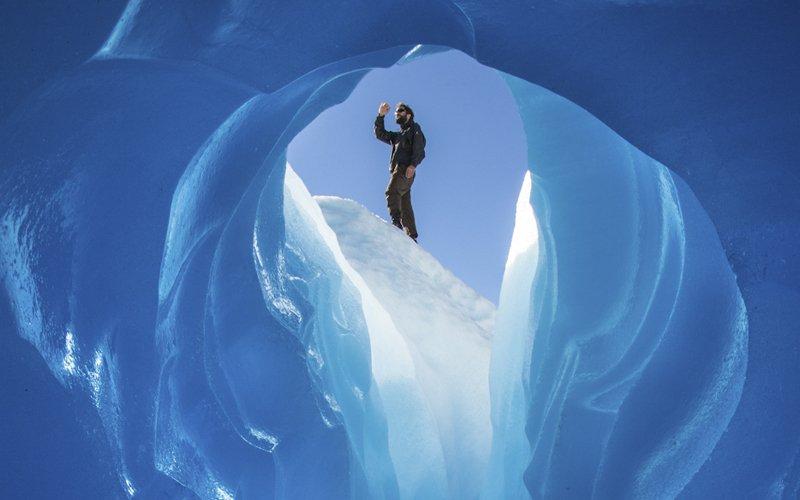 Hiking Glacier Aysén in Chile