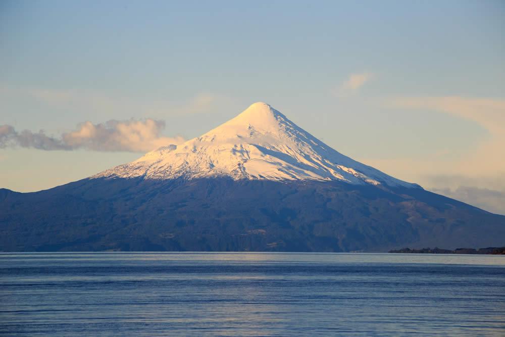 Osorno volcano with lake Llanquihue